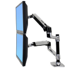 "Ergotron LX Series Dual Stacking Arm 61 cm (24"") Plata"