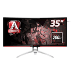 "AOC Gaming AG352QCX computer monitor 88.9 cm (35"") QXGA LED Curved Matt Black,Silver"