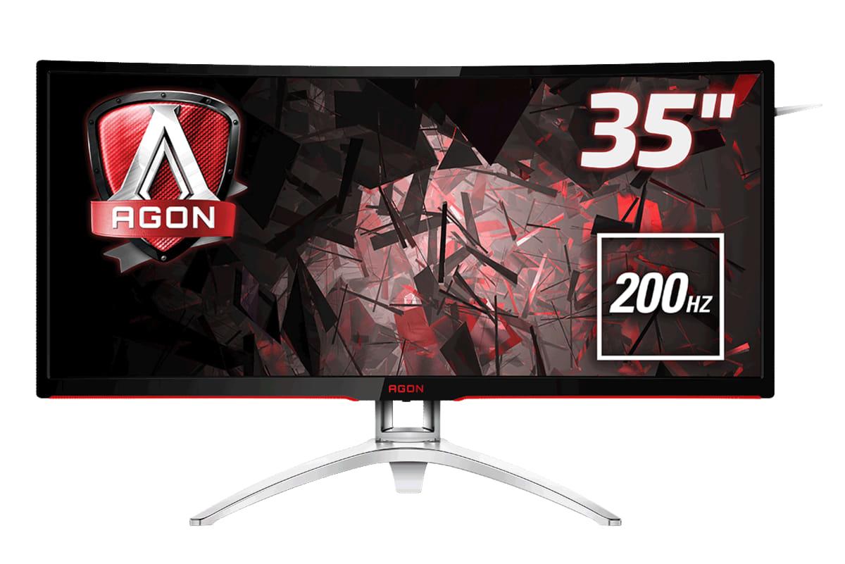 Monitor LCD 35in AGON AG352QCX curved MVA 2560x1080@200Hz 300cd/m2 2000:1 4ms D-Sub DVI HDMI DP