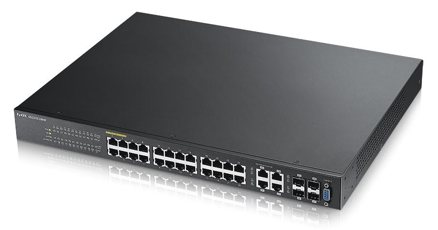 Zyxel GS2210-24 Gestionado L2 Fast Ethernet (10/100) Negro Energía sobre Ethernet (PoE)