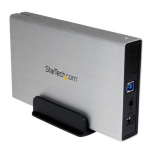 """StarTech.com 3.5in Silver USB 3.0 External SATA III Hard Drive Enclosure with UASP €"""" Portable External HDD S3510SMU33"""
