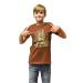 MERONCOURT Digital Dudz Kids Unisex Moving Eyes Hungry Bear Digital T-Shirt, Medium, Brown (DDKTDBM-M)