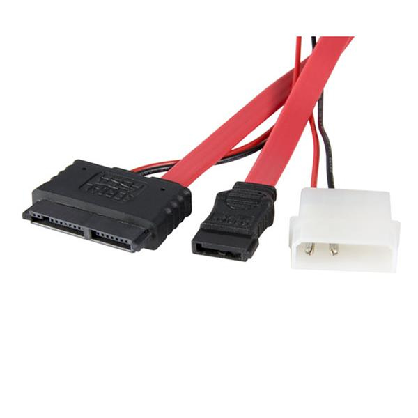 StarTech.com 12in Micro SATA to SATA with LP4 Power Adapter Cable