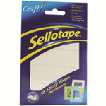Sellotape Sticky Fixers Double-sided 12x25mm 56 Pads Ref 1445423 [Pack 12]