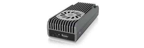 ICY BOX IB-1922MF-C32 storage drive enclosure M.2 SSD enclosure Anthracite, Black