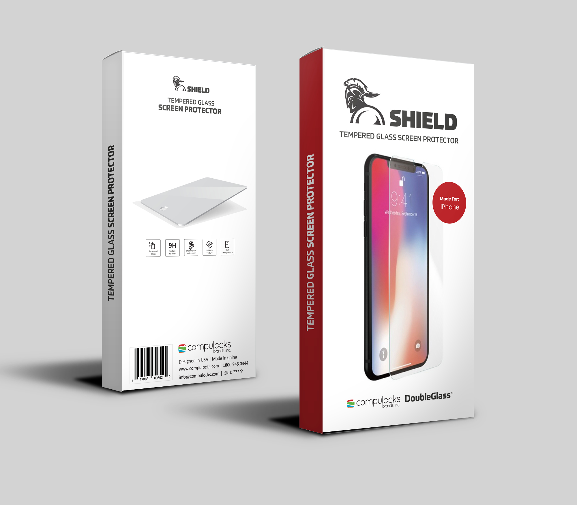 Compulocks DoubleGlass Screen Shield Teléfono móvil/smartphone Apple 1 pieza(s)