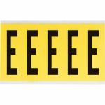 Brady 3460-E self-adhesive label Rectangle Removable Black, Yellow 5 pc(s)