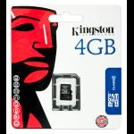 Kingston Technology 4GB microSDHC 4GB MicroSD memory card