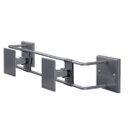 """R-Go Tools R-Go Double Screen Wall Mount, up to 27"""", Max weight 10kg, adjustable, silver"""