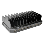 Tripp Lite 10-Port USB Charging Station with Adjustable Storage, 12V 8A (96W) USB Charger Output, Schuko Power Cord