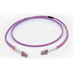 C2G 1M LC/LC OM4 LSZH FIBRE PATCH - VIOLET fibre optic cable