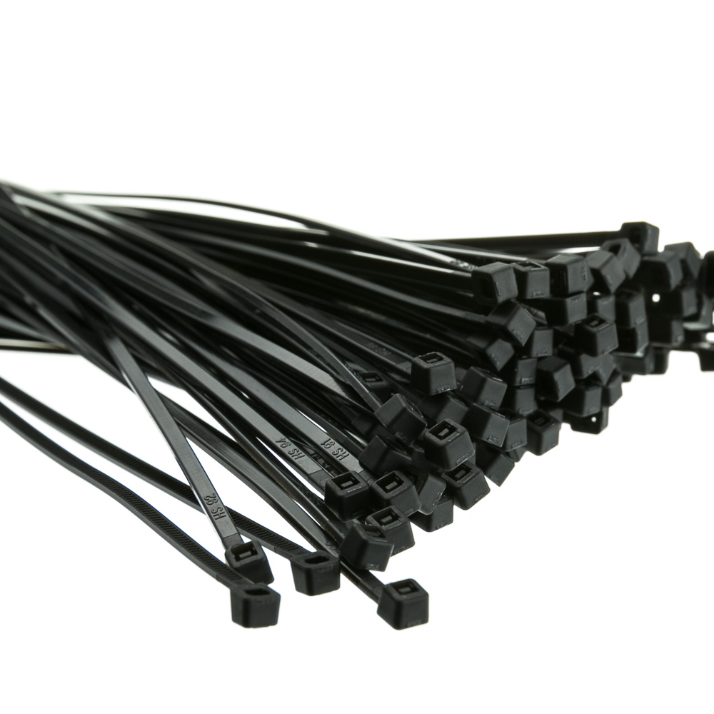 LSM Cable Ties 300mmx 4.8mm Black  PK100