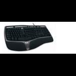 Microsoft Natural Ergonomic Keyboard GR 4000 USB Tastatur QWERTZ Deutsch Schwarz