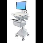 Ergotron StyleView Flat panel Multimedia cart White