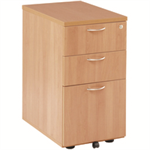 JEMINI FF JEMINI 3 DRAWER UNDER-DESK PED BEECH