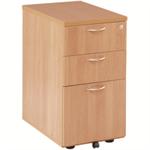 Jemini 3 Drawer Under-desk Pedestal Beech