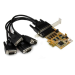 StarTech.com 4 Port PCI Express (PCIe) RS232 Serial Card w/ Power Output and ESD Protection