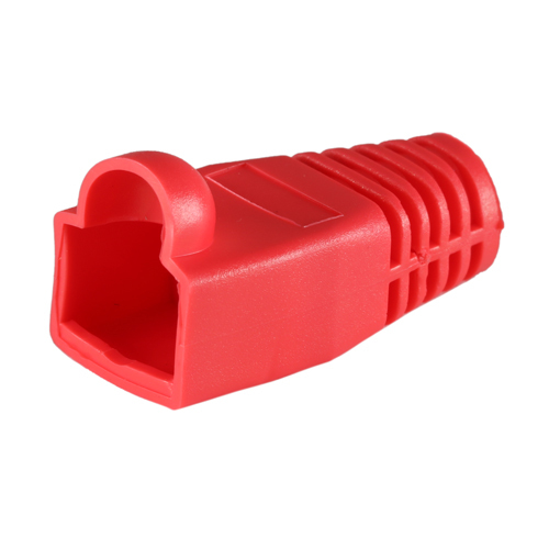Cablenet RJ45 Cat6a Boot Red 6.5mm
