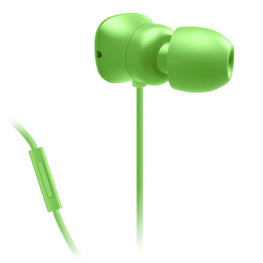 Belkin PureAV 002 Noise Isolating in Ear Headphones with Microphone Remote - Green