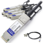 AddOn Networks X4DACBL5-AO InfiniBand cable 5 m QSFP+ 4xSFP+ Black