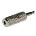 C2G Mono/Stereo Adapter 3.5mm Mono M 3.5mm Stereo FM Plata