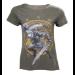 Nintendo Legend of Zelda Woman's Link at the Gate of Time T-Shirt, Medium, Military Green (TS224014ZEL-M)