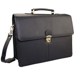 MONOLITH LEATHER BRIEFCASE BLACK