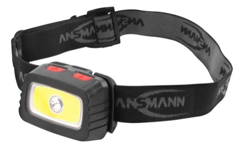 Ansmann HD200B Headband flashlight Black,Grey LED