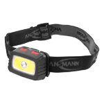 Ansmann HD200B Headband flashlight Black, Grey LED
