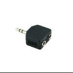 V7 V7AUD2ADPT35PLUG tussenstuk voor kabels 3.5 mm 2 x 3.5 mm Zwart