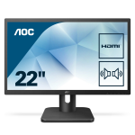 "AOC Essential-line 22E1D computer monitor 54.6 cm (21.5"") Full HD LED Flat Matt Black"