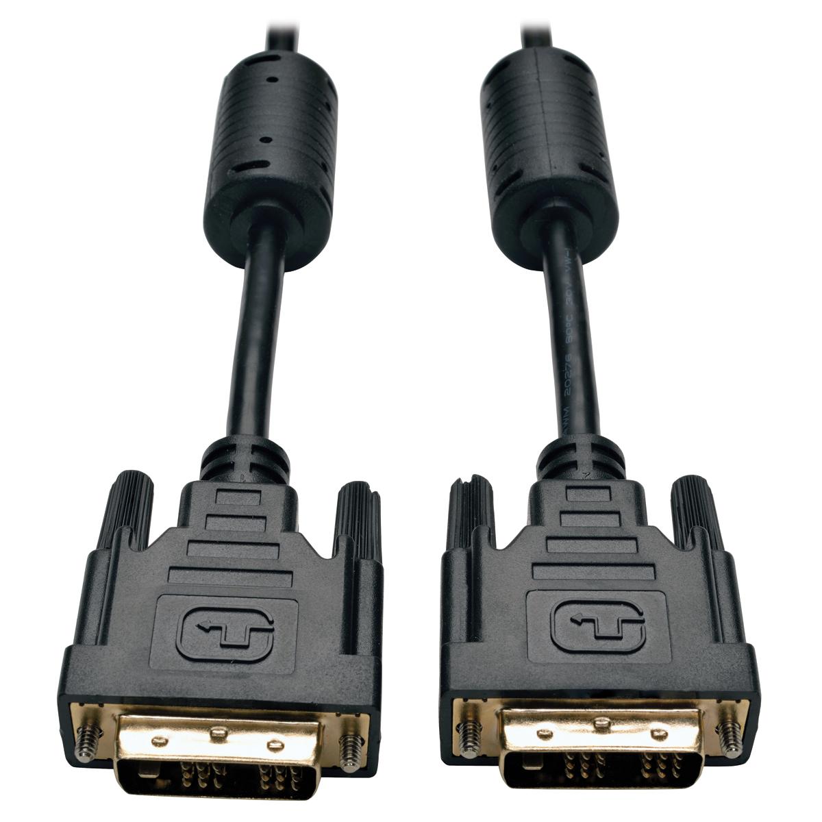 Tripp Lite DVI Single Link Cable, Digital TMDS Monitor Cable (DVI-D M/M), 0.91 m (3-ft.)
