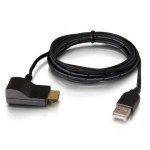 C2G 82236 cable interface/gender adapter USB HDMI Black