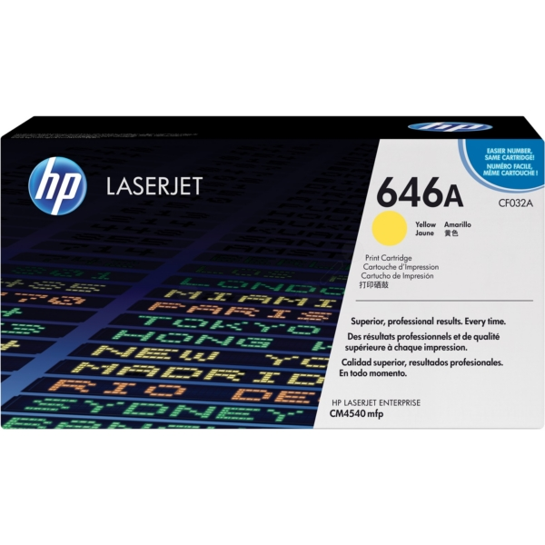 HP CF032A (646A) Toner yellow, 12.5K pages @ 5% coverage