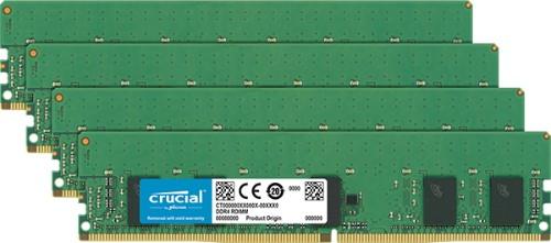 Crucial 16GB (4 x 4GB) DDR4-2666 RDIMM memory module 2666 MHz ECC