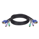 Tripp Lite PS/2 (3-in-1) Cable Kit for KVM Switch B007-008, 15-ft.