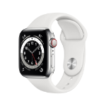 Apple Watch Series 6 OLED 40 mm Silver 4G GPS (satellite)