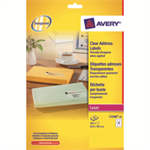 Avery L7560-25 printer label Transparent