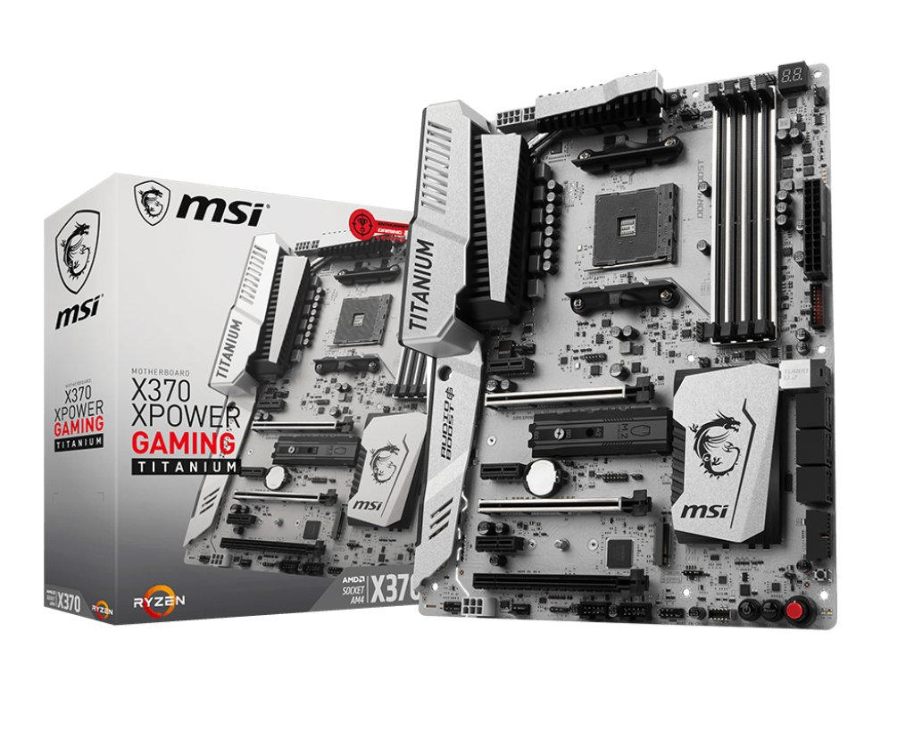 MSI X370 XPOWER GAMING TITANIUM AMD X370 Socket AM4 ATX motherboard