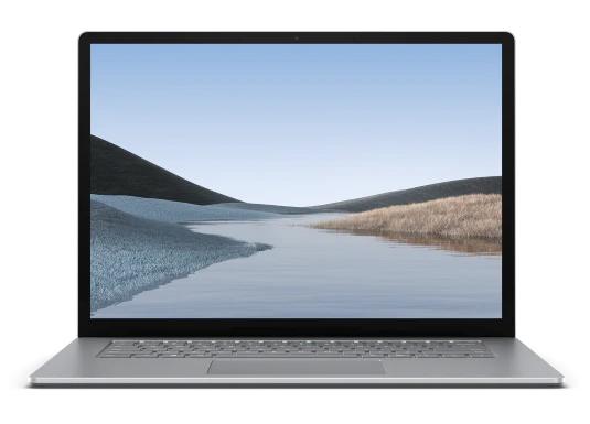 "Microsoft Surface Laptop 3 Portátil Platino 38,1 cm (15"") 2496 x 1664 Pixeles Pantalla táctil AMD Ryzen 5 8 GB DDR4-SDRAM 128 GB SSD Wi-Fi 5 (802.11ac) Windows 10 Home"