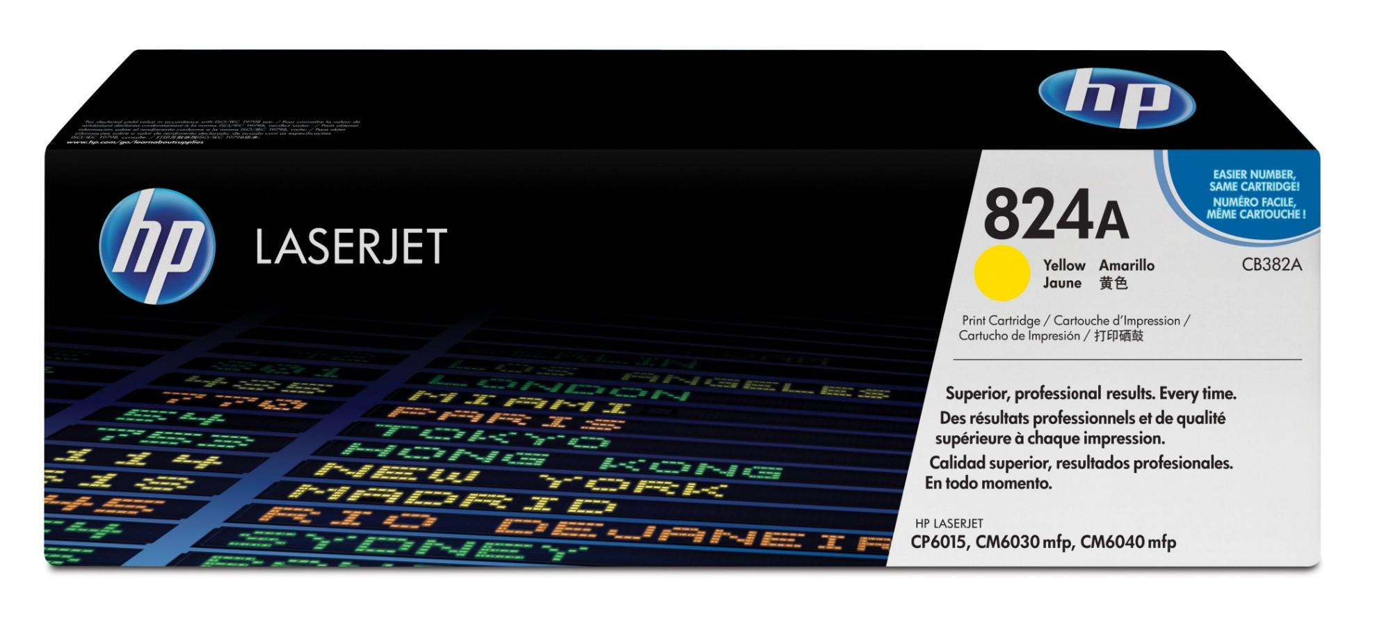 HP 824A Origineel Geel 1 stuk(s)