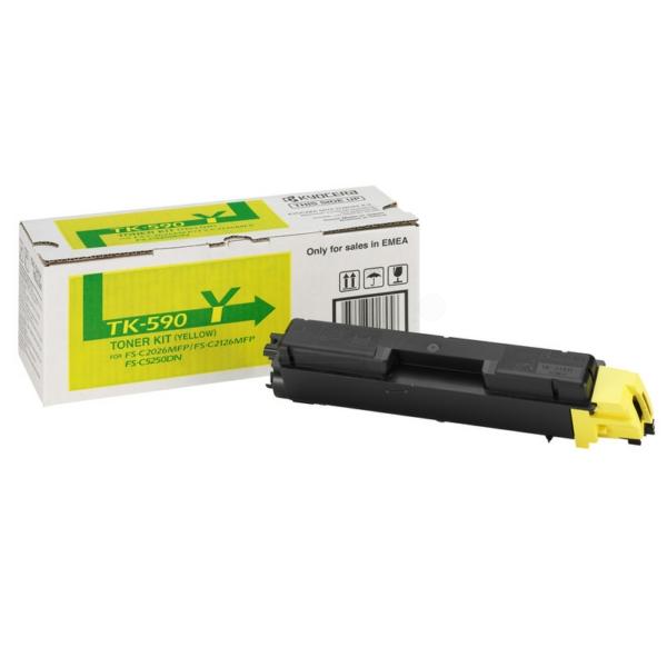 KYOCERA 1T02KVANL0 (TK-590 Y) Toner yellow, 5K pages