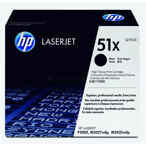 HP Q7551X 51X Black LaserJet Toner Cartridge 13000 pages