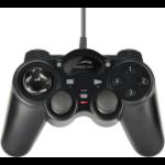 SPEEDLINK THUNDERSTRIKE Black USB Gamepad Analogue / Digital PC