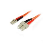 StarTech.com Cable Adaptador de Red de 3m Multimodo Dúplex Fibra Óptica LC-SC 50/125 - Patch Duplex