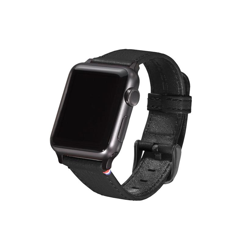 Strap Lthr Apple Watch 42mm Black