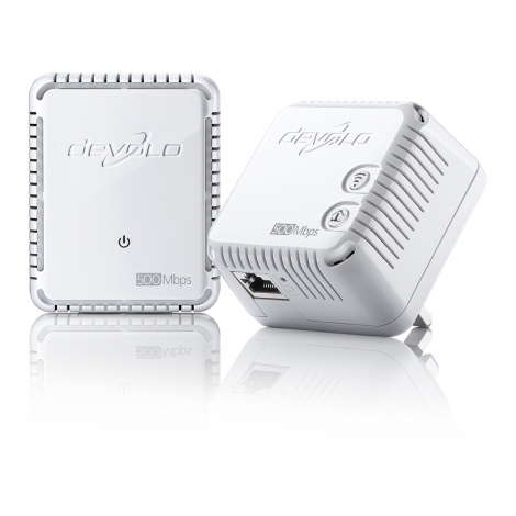 Devolo dLAN 500 WiFi, Starter Kit 500 Mbit/s Ethernet LAN Wi-Fi White 2 pc(s)