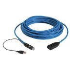 Black Box USB 3.0 15m USB cable USB 3.2 Gen 1 (3.1 Gen 1) USB A 2 x USB A Black, Blue
