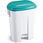 FSMISC 60 LTR PLASTIC BIN WHITE/GREEN 348048015