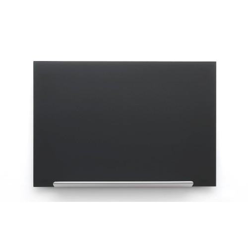 Nobo Diamond Glass Board Magnetic Black 1264x711mm